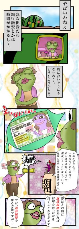 カエル子さんは一度にたくさん申込をしたのでブラックになってしまってどこも貸しだしできません